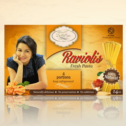 Create a label for natural, healthy, FRESH pasta products!!