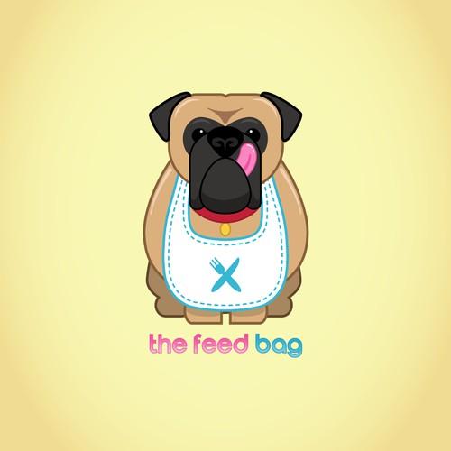 Funny Bullmastiff Logo Design