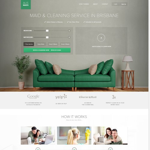 Website Design for a Cleaning Service