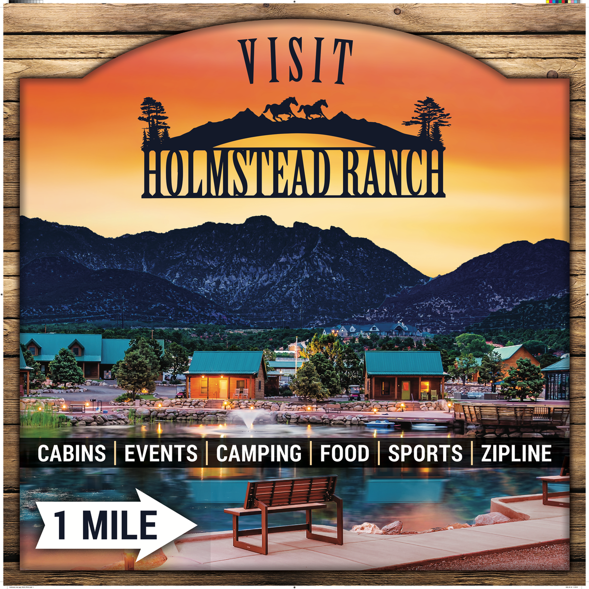Holmstead Ranch 6' x 4' One Sided Sign