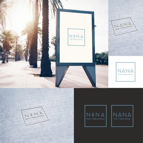 """Logo for restaurant  """"NANA"""" in Cannes"""