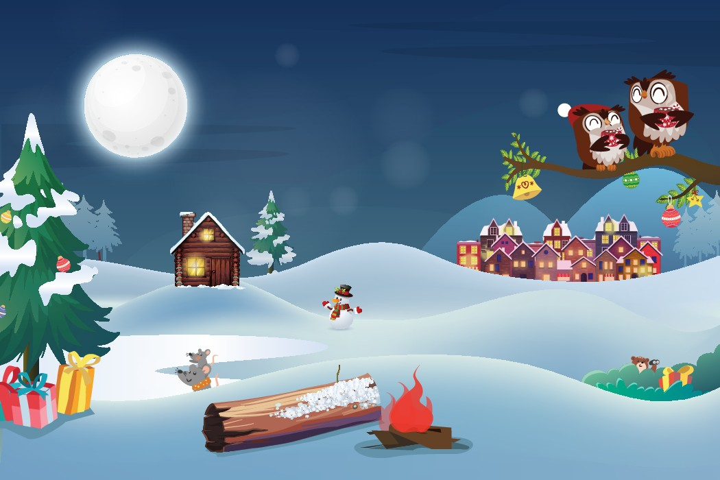 Illustrate a Whimsical Woodland Creature Christmas!