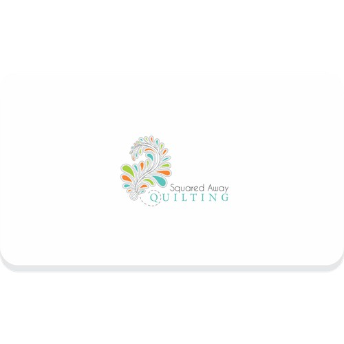 Design a simply elegant logo for a custom quilting business.