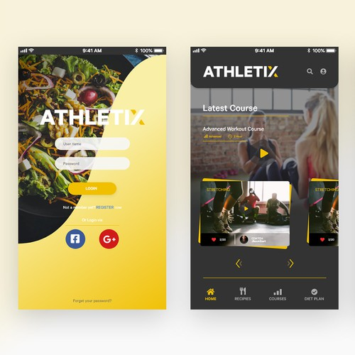 Fitness App Design