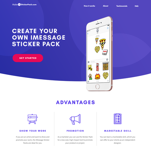 Design for a Sticker-Tutorial Website