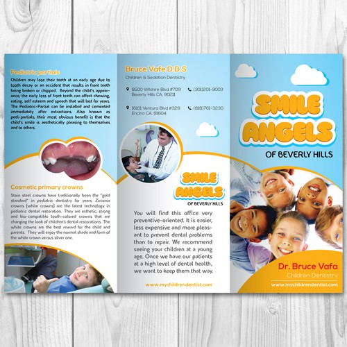 A Referral Brochure for a Children Dentistry office in Beverly Hills