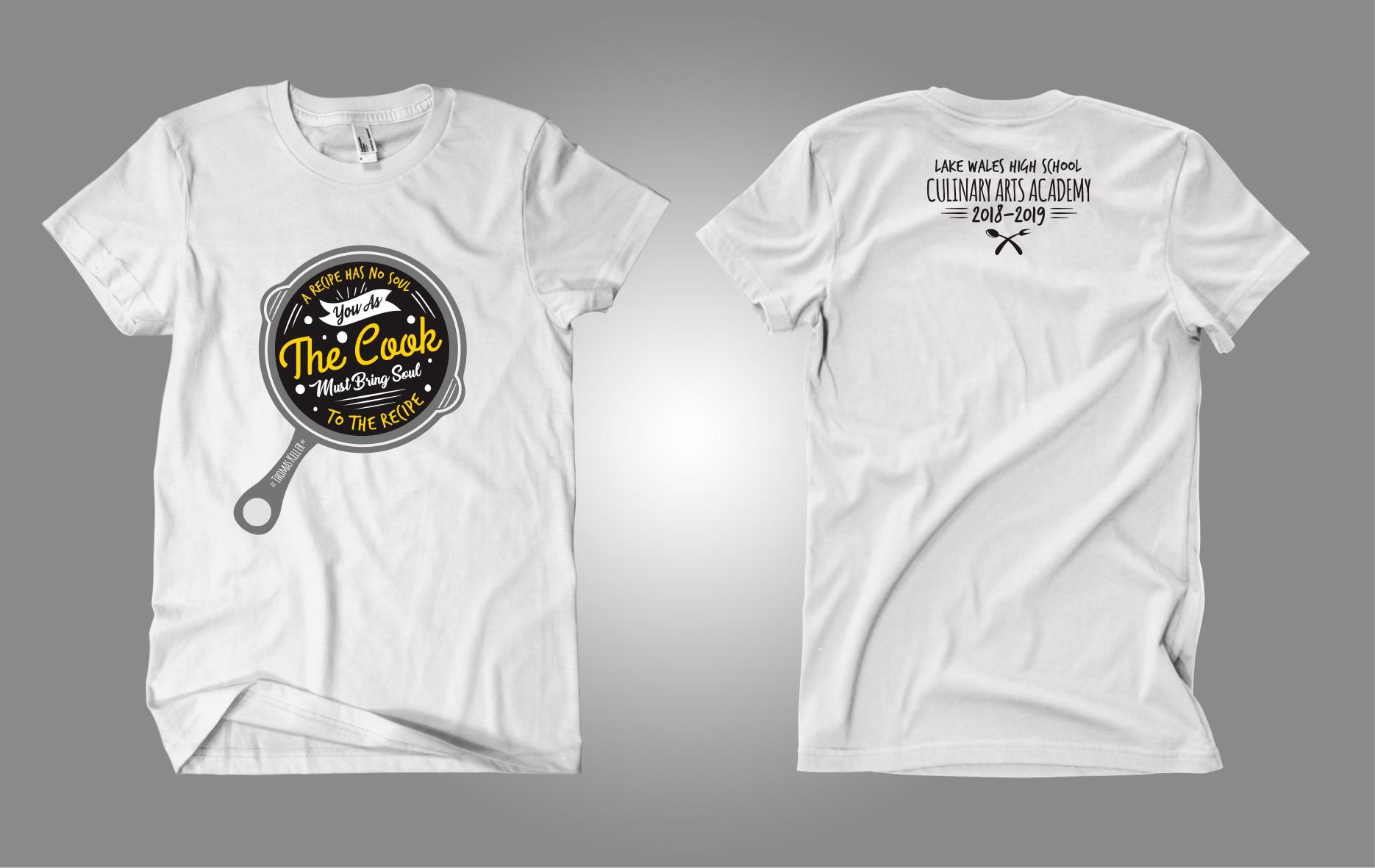 Design a hip t-shirt for high school culinary arts program!