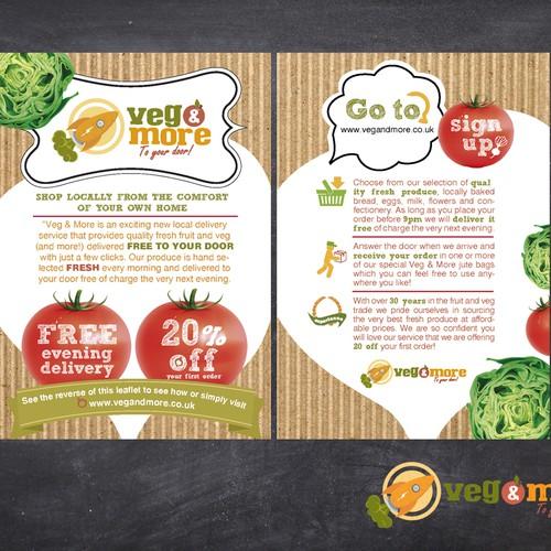 Veg & More needs an eye catching leaflet design!