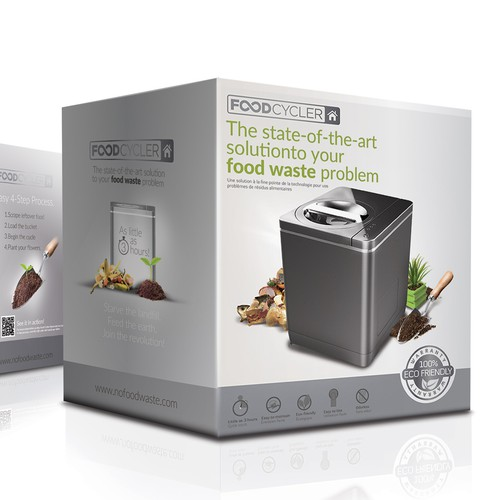 Food Cycler Indoor Composter Package Design