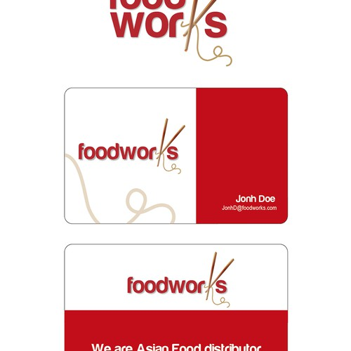New logo and business card wanted for FOODWORKS