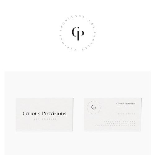 Contemporary modern logo for Curious Provisions
