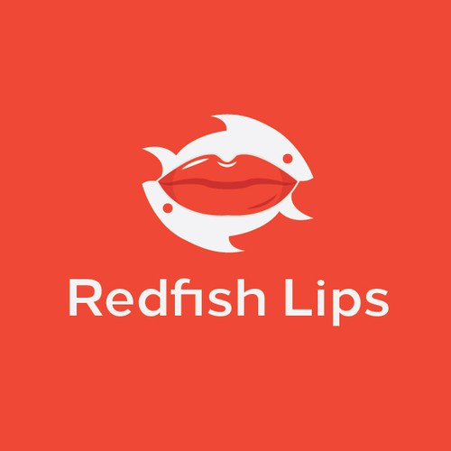 Redfish Lips Logo Concept