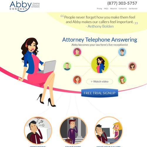 Abby Connect Landing Page