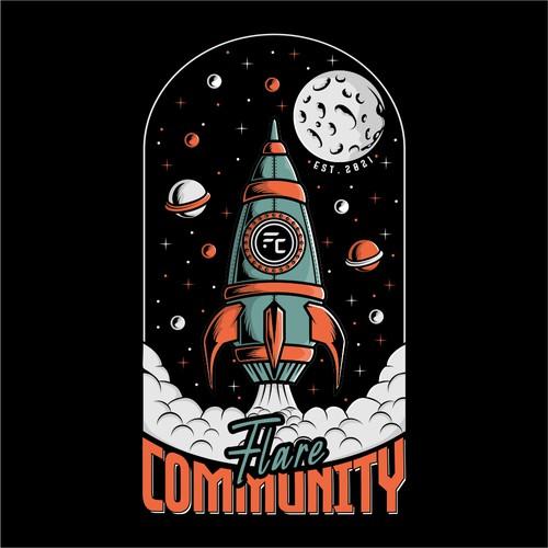 Design a customized Rocket Launch T-Shirt