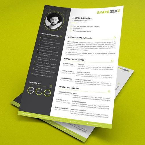 Sharecat Resume Design