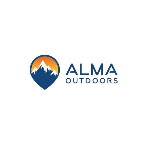 Logo concept for Alma Outdoors
