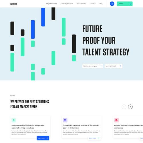 Website Design for Satellite