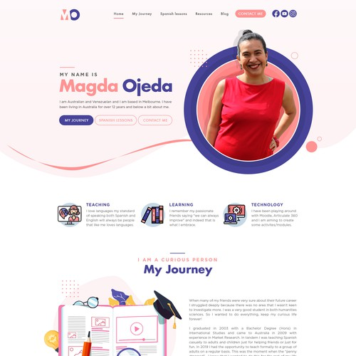 Website design for Spanish Teacher, Magda Ojeda!