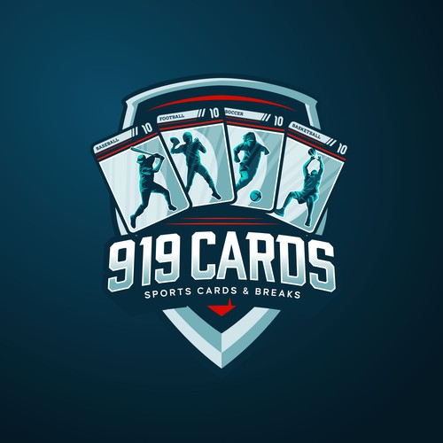 Sport Playing Card Themed Logo Concept