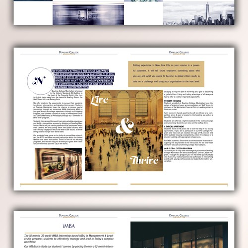 Brochure with pictures and exciting page compositions