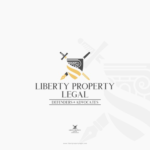 Mature logo for attorney & law business