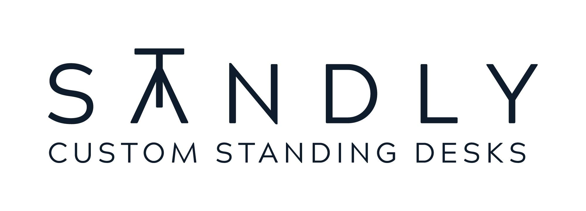 Logo for portable, height-adjustable standing desk