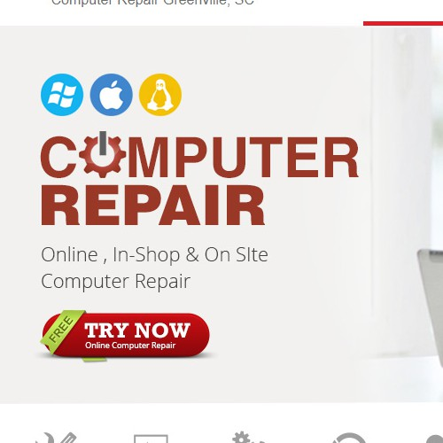 Computer Repair Website Header/Slider - Graphic/ Image
