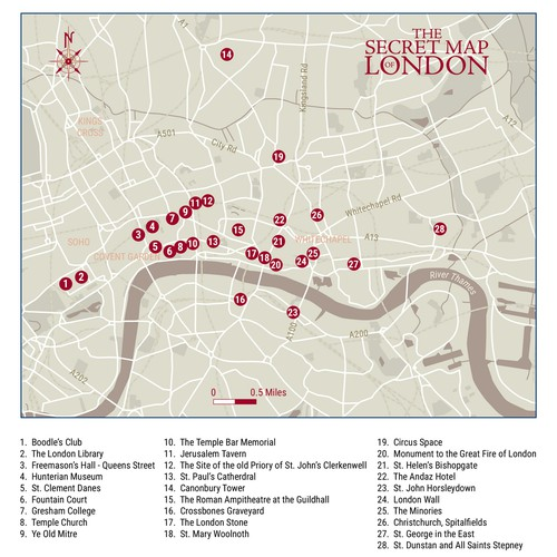 Site location map for print publication
