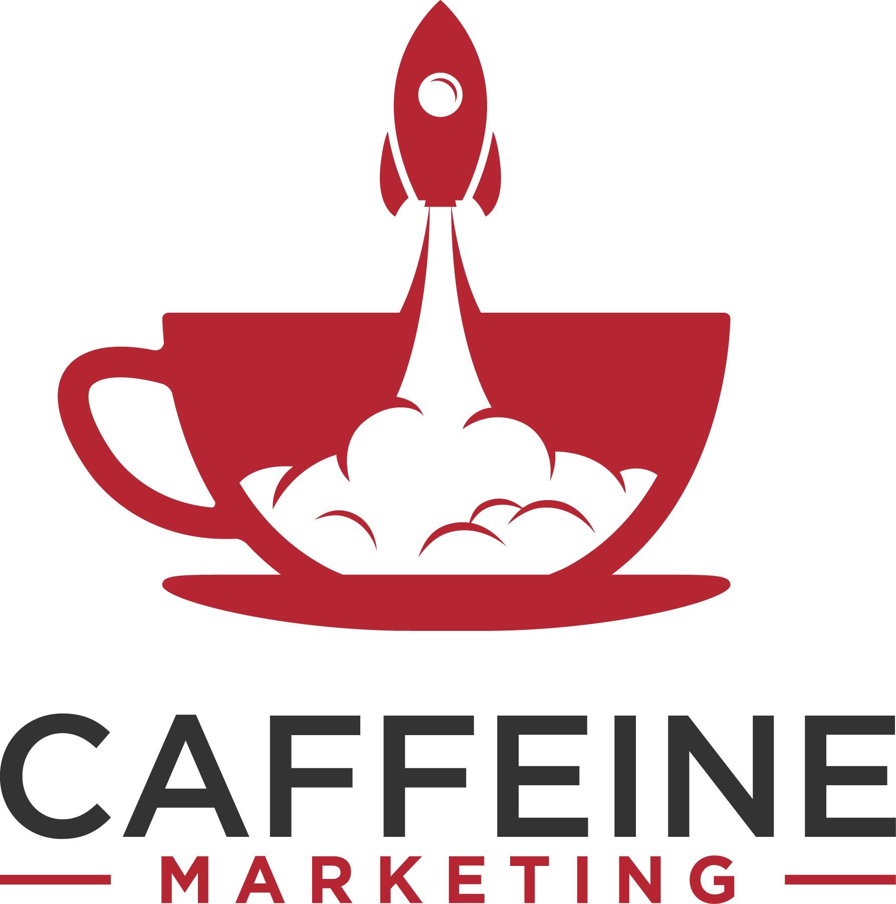 Design a trendy logo for a fun Marketing Agency rebrand named Caffeine