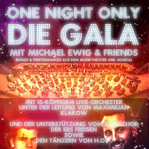 Flyer- & Plakatentwurf für große Musiktheater- & Musical Gala (Broadway-Thema)