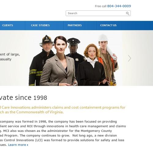 Website design for MC Innovations