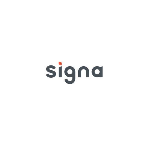 Bold wordmark for Signa