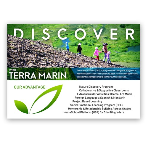 Brochure design for Terra Marin School