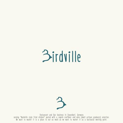 Birdville logo design