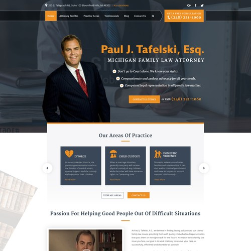 Law office landing page