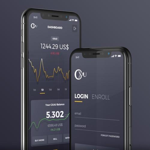 CXAU Cryptocurrency App