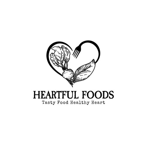 Logo for a heart healthy catering business
