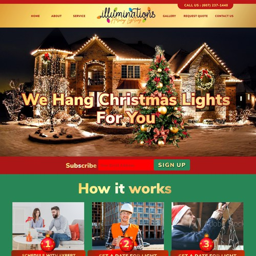 Christmas Light Install Webpage design