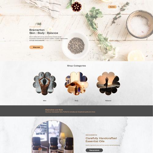 Home Page GlowUP for holistic wellness biz.