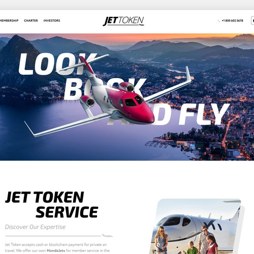 Private Jet Charter Website