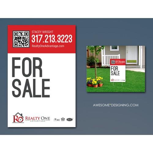 Real Estate Sign design