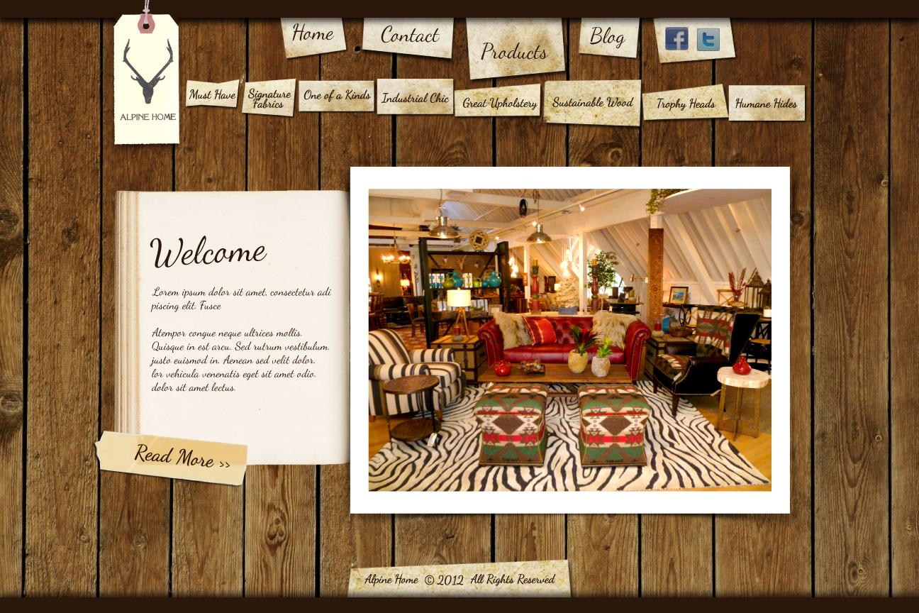 Alpine Home needs a new website design
