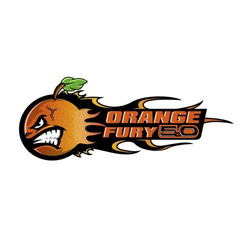Great world war 2 plane like styled orange that is lighting up pavement