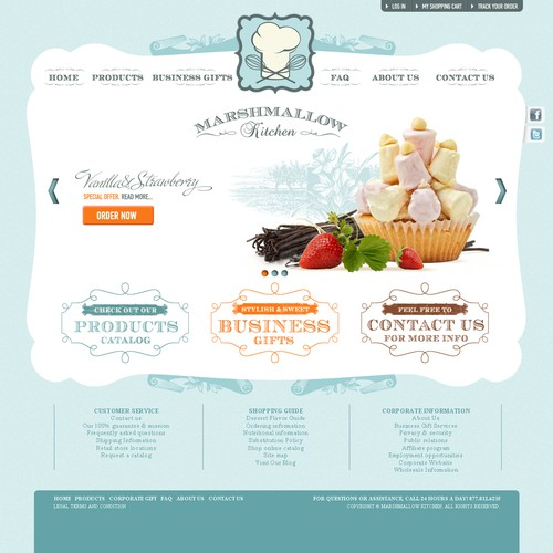 Create the next website design for Marshmallow Kitchen