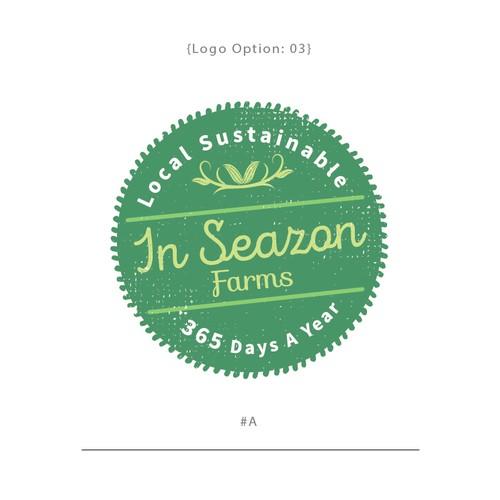 Logo badge design for the InSeazon Farms