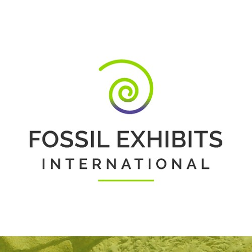 Fossil Exhibits International logo and visual identity