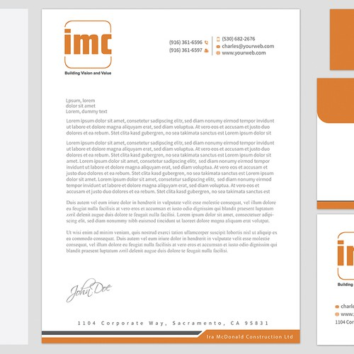 Design Business Cards & Letterhead for a Brand-Savvy Construction Company