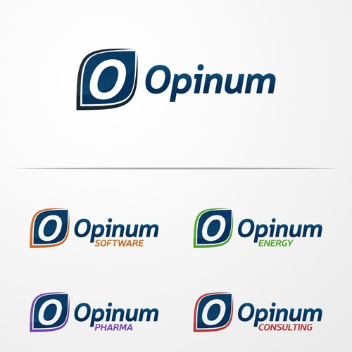 Build a single identify and sub brands for a multi-disciplinary company: Opinum