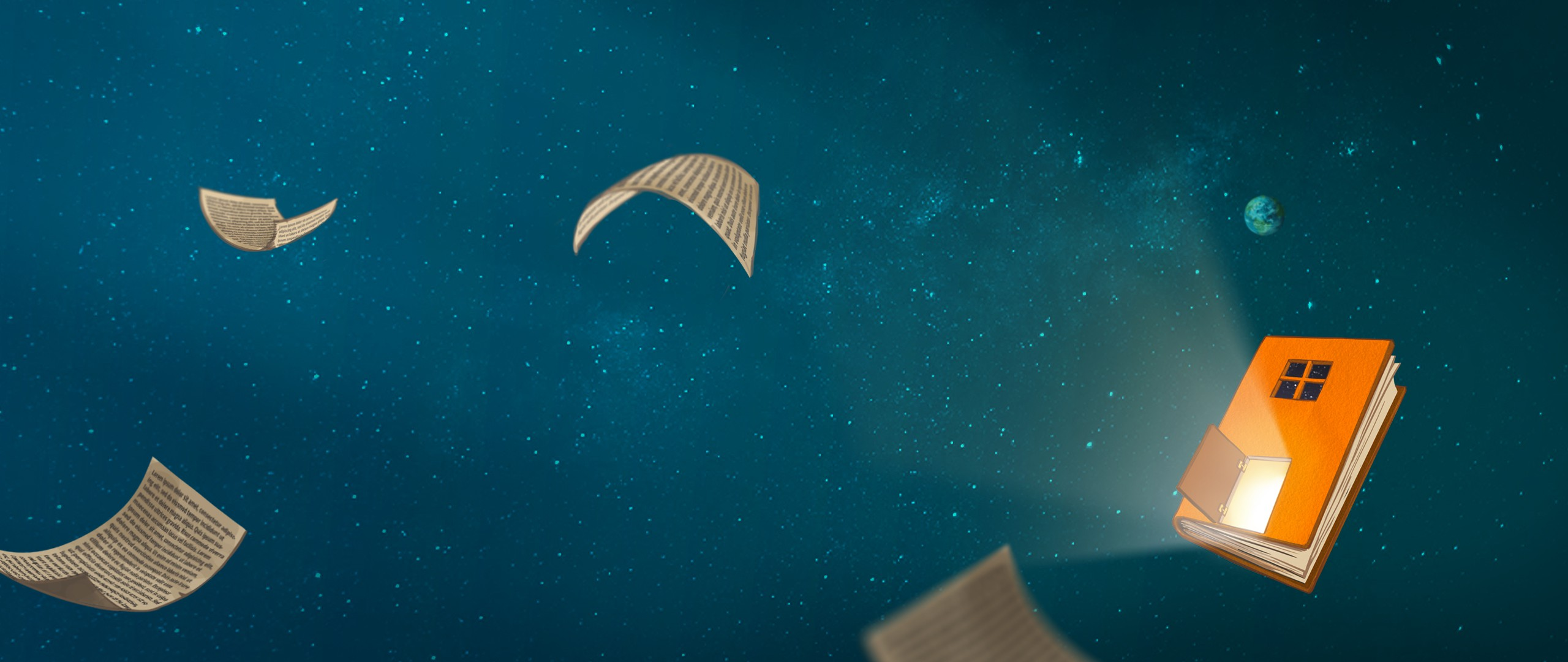 The hidden universe of a magic book lost in time and space