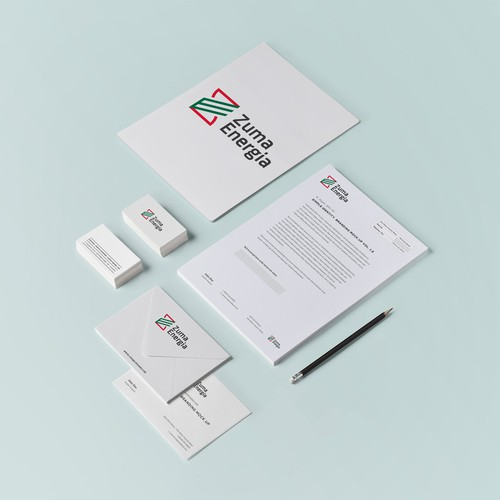 Logo and Stationery Concept for Zuma Energia